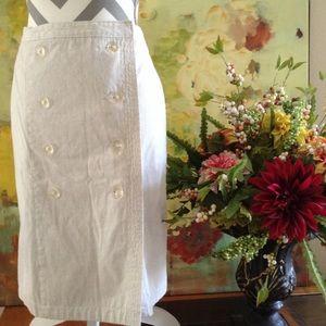 Isaac Mizrahi Stone Gray A Line Skirt